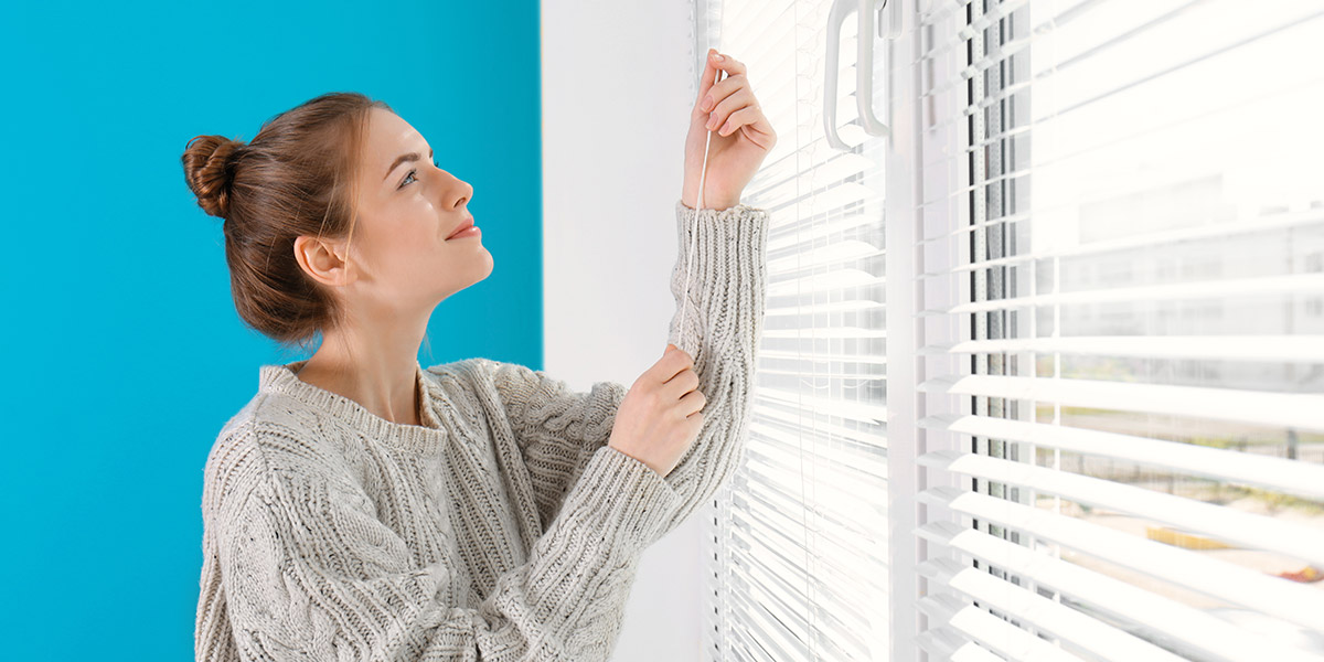 opening blinds interior home